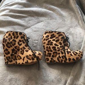 Steve Madden cheetah wedges